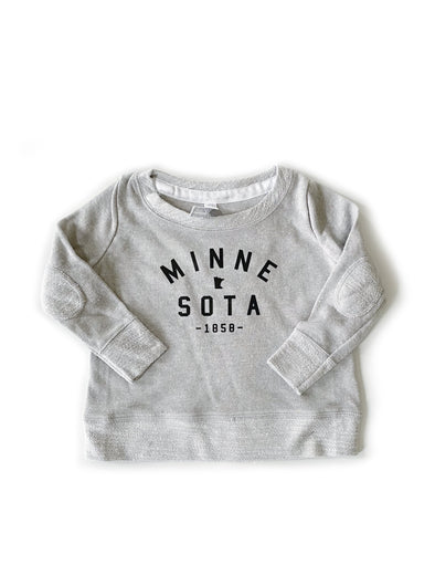 Minnesota Toddler Crew Sweatshirt with Elbow Patches
