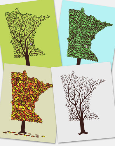 MN Grown Prints, Minnesota Season Screenprints