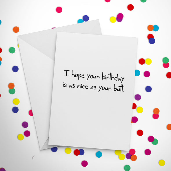 Nice Butt Birthday Card