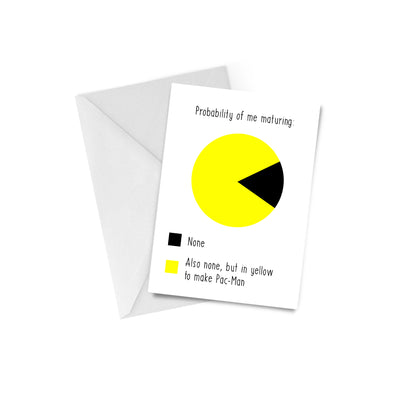 Marurity PacMan Greeting Card
