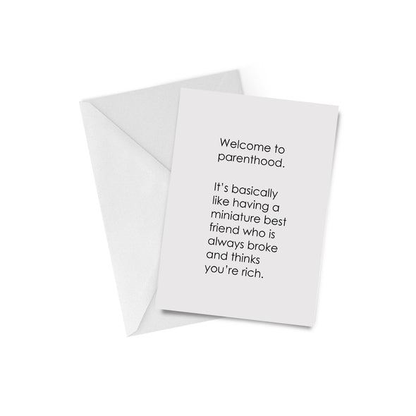 Welcome to Parenthood Greeting Card