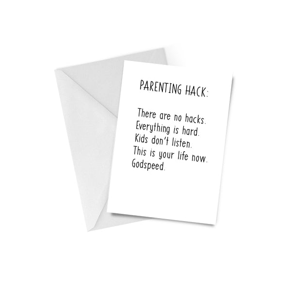 Parenting Hack Greeting Card