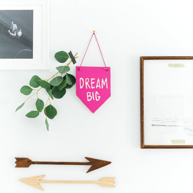 Wood Banner Motivational Wall Art