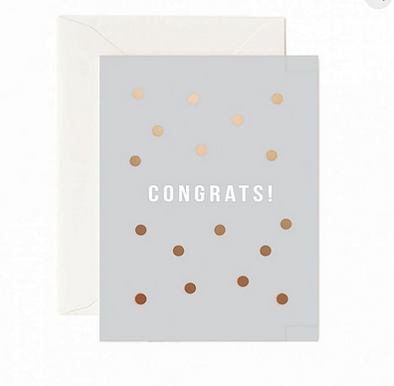 Congrats! Copper Dots Greeting Card