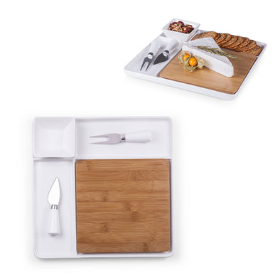Peninsula Cutting Board & Serving Tray with Cheese Tools