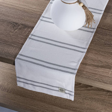 Blue Gray Stripe Table runner Tablecloth