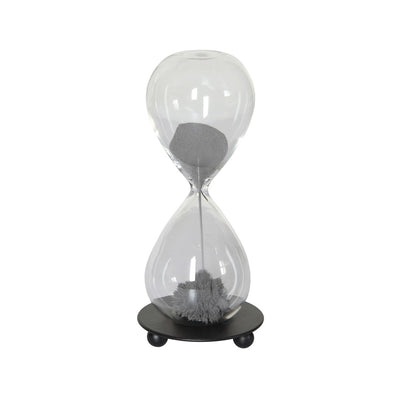 "Decorative Glass Magnetic Hourglass - 5"" Tall"