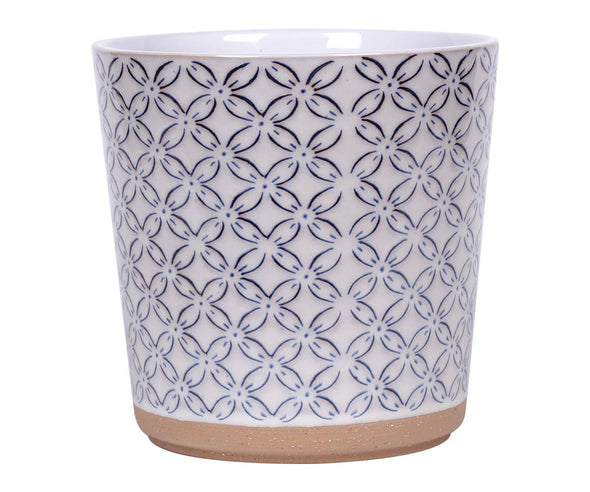 Cardif Flower Pot with Terracotta Base - 5.25""