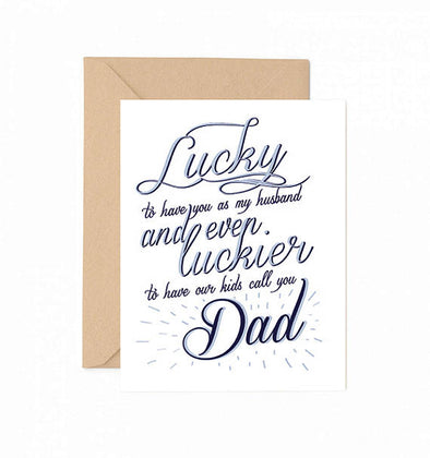 Lucky Dad Greeting  Card