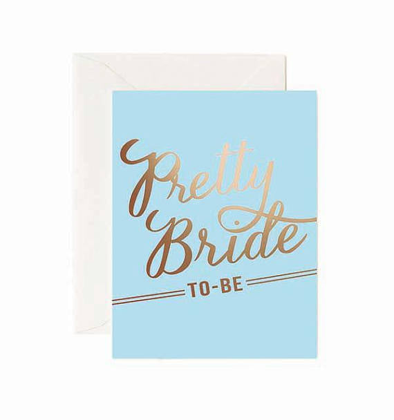 Pretty Bride to Be Greeting Card