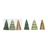 Porcelain Tree, Green, Gold & Sage, Boxed