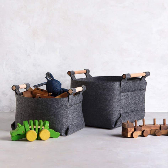 Medium Storage Basket - gray