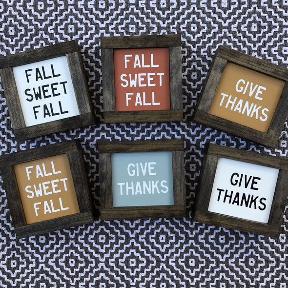 Fall Signs: Mini Fall Table or Shelf Signs