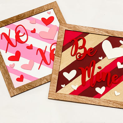 Valentine's Day Wood DIY Craft Kit - Set of 2 Signs