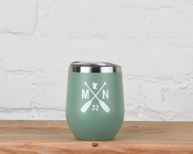 Matte Green Tea Paddle MN Thermal Tumbler
