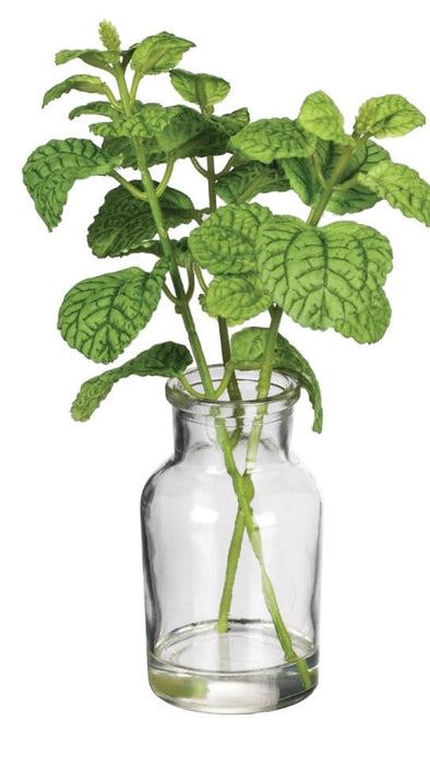 Herb Vase - Faux Greenery Decor