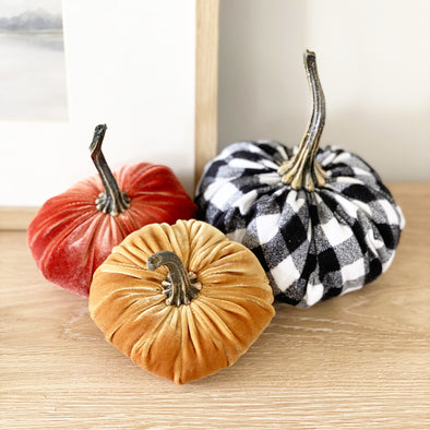 Large Velvet Pumpkins