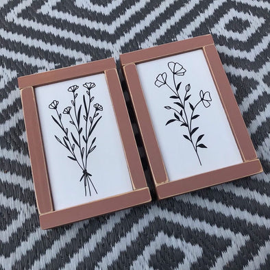 Mini Botanical Outline Handpainted Signs