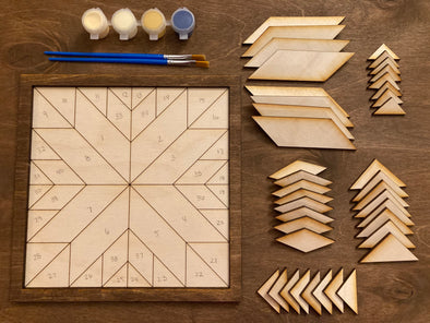 Barn Quilt Wood Mosaic DIY Craft Kit
