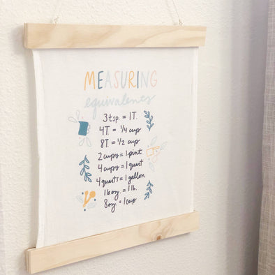 Measuring Equivalents Kitchen Wall Hanging