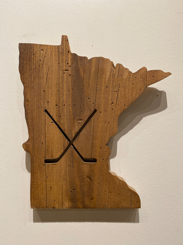 MN State Hockey Wall or Shelf Decor