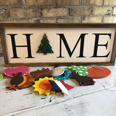 Home Interchangeable Season Sign