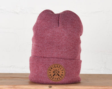 Uniquely Northern Heather Cardinal Beanie