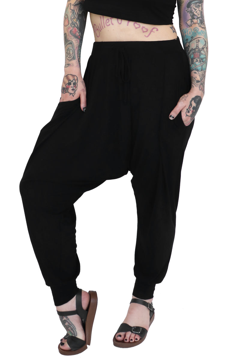 Signature Drop Crotch Joggers + Crop Tee Set