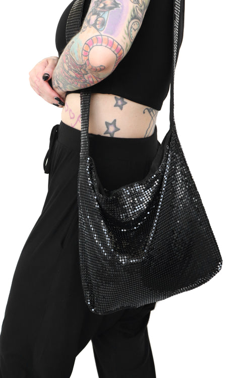 Sasha Metal Sequin Crossbody Bag