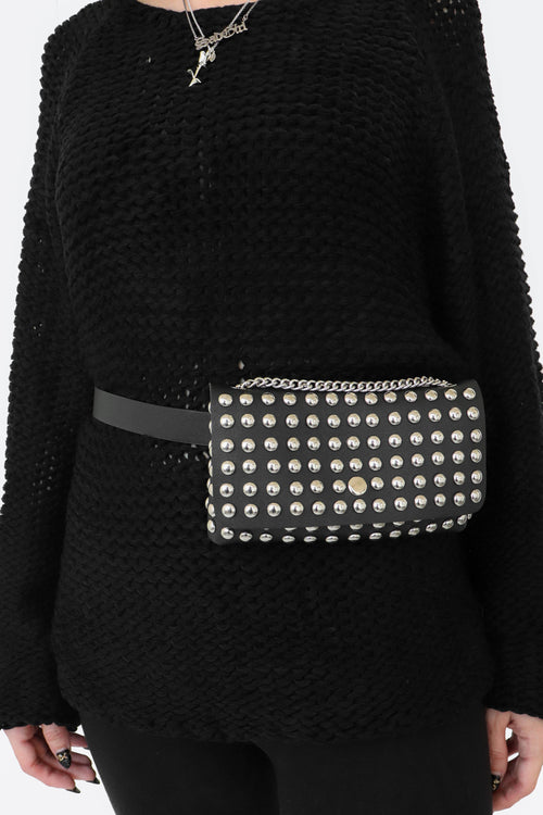 Studded Mini Handbag / Convertible Belt