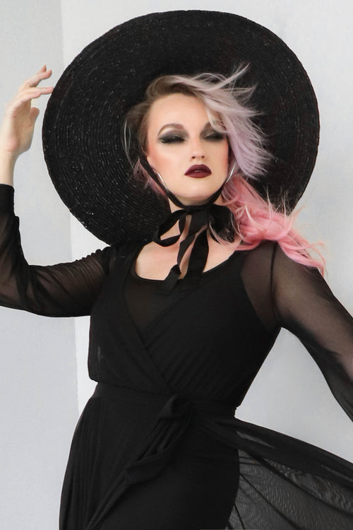 Goth Tea Oversized Sun Hat