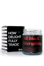 """FOXBLOOD"" All Black Everything Candle by Burke and Hare Co"