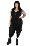 Tokyo Cropped Oversized Drop-Crotch Jumpsuit WITH POCKETS!