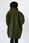 Oversized Paris Coat -Dark Olive