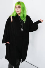 Long Knit Oversized Cardigan Sweater With Pockets!