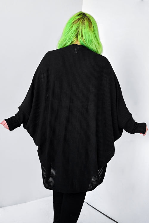 Thermal Bishop Sleeve Oversized Sweater