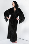 Bathory Dressing Robe - Black Velvet