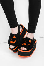 Fuzzy 24-7-365 Halloween Platforms - sizes 10 & 11 left!