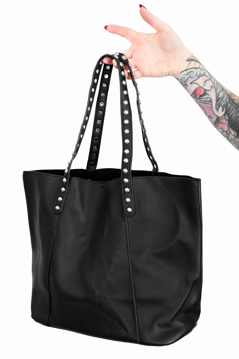 Studded Handle Tote