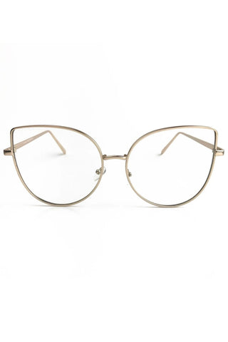 Dre Clear Cateye Glasses - Gold