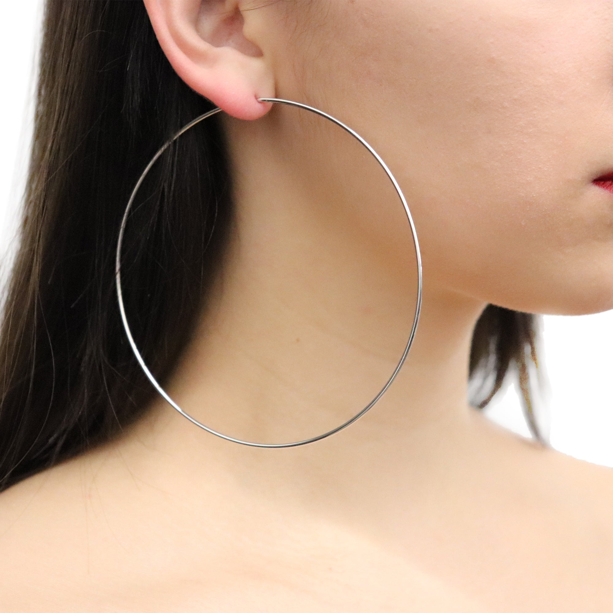 The Perfect Oversized Hoops