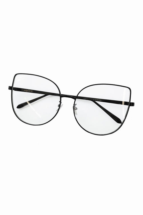 Clear Cateye Glasses