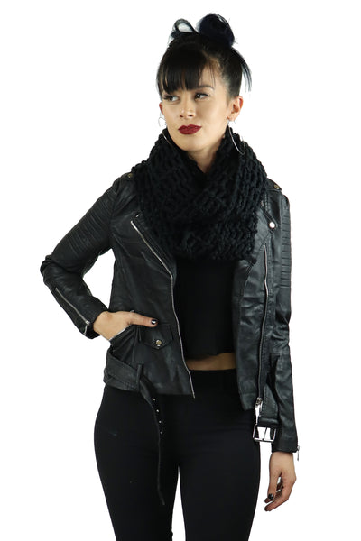 Classic Vegan Leather Motorcycle Jacket