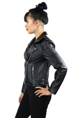 Night rider Vegan Leather Motorcycle Jacket