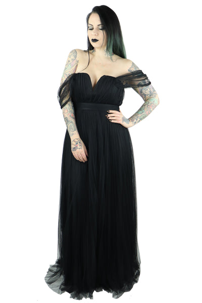 Dark Lily Tulle Dress- last one small!!!