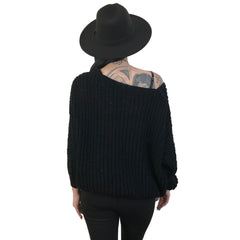 Wide Neck Oversized Sweater