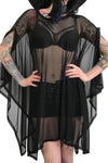 Mesh Rhiannon Flowing Oversized Tunic Top