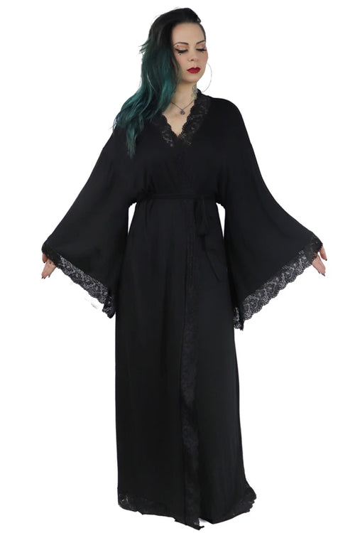 Bathory Dressing Robe - Black