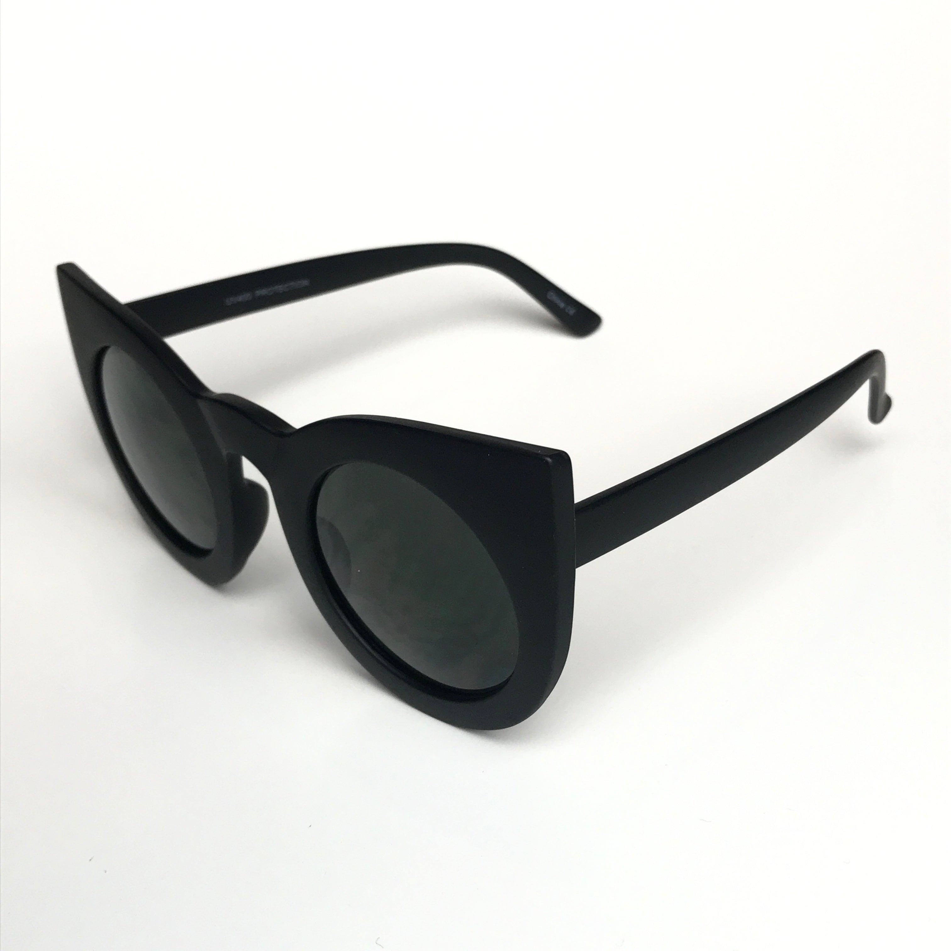 Pop Oversized Sunglasses - Matte Black