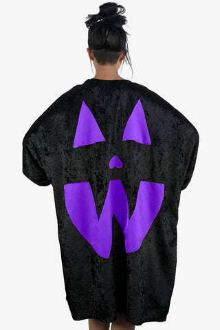 Velvet Pumpkin Cape - Purple (Limited!)